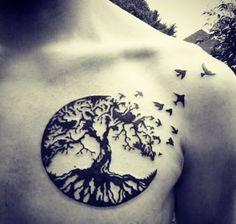 Tree and Birds Tattoo   Best