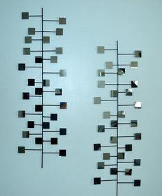 The Miller Retro Modern Mirror Wall Art Steel Vintage Mid-Century Eames Era 1960's inspired