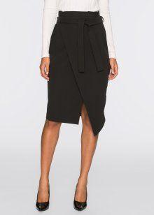 Zavinovací sukně, BODYFLIRT, černá