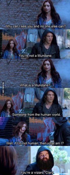 The Mortal Instruments: City Of Bones // Harry Potter & The Sorcerer's Stone // Mash-Up // Clary // Jace // Hagrid *dies of so .such laughter becAuse I just saw this movie like 4 hours ago* Scorpius Rose, Fangirl, Cassandra Clare Books, The Dark Artifices, Vampire Academy, City Of Bones, The Infernal Devices, Film Serie, Shadow Hunters