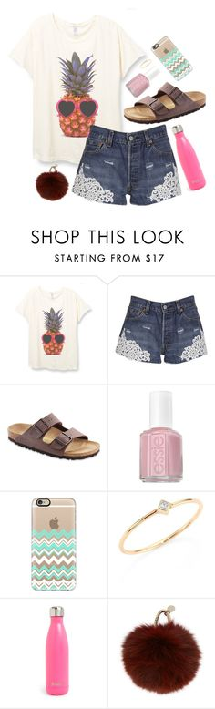 """""""Love this shirt!"""" by sweet-n-southern ❤ liked on Polyvore featuring Forte Couture, Birkenstock, Essie, Casetify, ZoÃ« Chicco, S'well and Yves Salomon"""