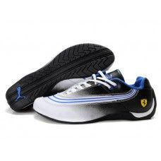 Puma Ferrari Shoes Men Black/White/Ingigo
