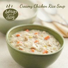Creamy Chicken Rice Soup Recipe from Taste of Home -- shared by Janice Mitchell of Aurora, Colorado