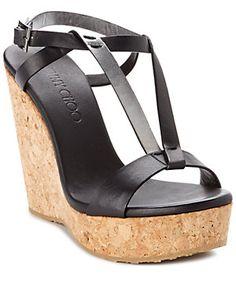 "Jimmy Choo ""Native"" Leather & Cork Wedge Sandal Wedge Sandals, Sexy Heels, Beautiful Shoes, Designer Shoes, Jimmy Choo, Catwalk, Cork, Product Launch, Clogs"