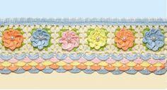 Croche - Barrado multicolorido