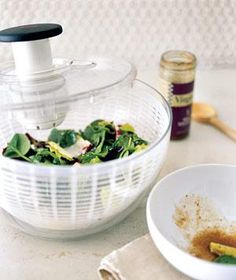 Salad Spinner as Dressing Distributor | New roles for items that can help you get dinner on the table.