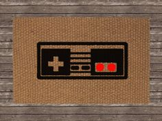 The mud stops here doormat welcome mat hand painted Controller rug