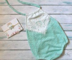 6-12 Month Aqua Romper baby girl romper jumper by PetuniaandIvy