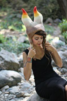 Chapeaux de feutre à la main unique par Feltthink sur Etsy