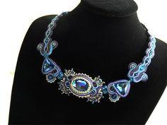 Soutache necklace by Creattivita on Etsy