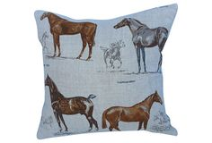 Equestrian  Irish Linen Pillow