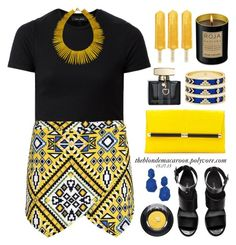 """05.07.15"" by theblondemacaroon ❤ liked on Polyvore featuring Boohoo, H&M, Diane Von Furstenberg, House of Harlow 1960, Gucci, Janna Conner Designs, Kate Spade, Lancôme and Roja Parfums"