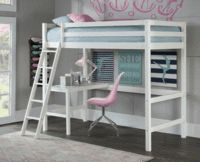 NE Kids Hillsdale Caspain Twin Study Loft, White is part of Kids Crafts Room Teen Girl Bedrooms Strength, style and substance are the foundations for the pride we feel in the Hillsdale Kids and Teen - Twin Bunk Beds, Kid Beds, Girl Loft Beds, Bedroom Furniture, Bedroom Decor, Kids Furniture, Furniture Stores, Bedroom Cabinets, Furniture Outlet