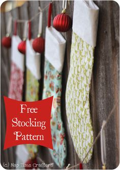 Free Christmas Stocking Pattern. I made 15 of these this year and absolutely love them. Great pattern!