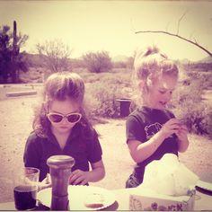 """#tbt Michaele & her sister keeping it cool in the desert. Mid eighties. Arizona."" Photo taken by @kalonstudios on Instagram (10/03/2013)"