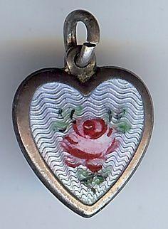 Art Glass Puffy Heart Pendant Blue /& Black Striped Glass Pendant Blue Two Sided Heart Pendant Vintage Jewelry Making Art  Craft Supply