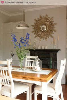 Turning a run-down Edwardian house into a character-filled family home was more than just a passing fancy for Hannah Gooch, as it led to her setting up an interior design business of her own. Mirror Over Bed, Edwardian Hotel, Dining Area, Dining Table, Dining Rooms, British Home, Interior Design Business, Country Style Homes, House And Home Magazine