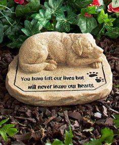 Dog Memorial Stone For Pet Dog Grave Marker Paw Prints in Pet Supplies, Pet Memorials & Urns Dog Memorial Stone, Memorial Garden Stones, Memorial Gardens, Pet Remembrance, Dog Sculpture, Garden Sculpture, Memorial Gifts, Memorial Ideas, Memorial Plaques