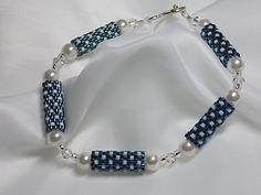 Teal Peyote Beaded Bracelet by BittnersCreations on Etsy, $16.00