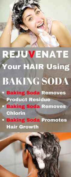 Yep, that's right. Baking soda has some amazing benefits for your hair! You can use it in place of your regular shampoo to give your locks a boost. It's a safe and affordable product that naturally cleanses and leaves your hair feeling healthy. Baking Soda For Dandruff, Baking Soda For Hair, Baking Soda Shampoo, Baking Soda Uses, Shampoo For Curly Hair, Hair Growth Shampoo, Shampoo For Itchy Scalp, Drinking Baking Soda, Beauty Tutorials
