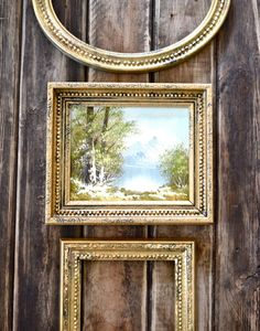 Vintage antique gold hand paint frame-Vintage by Anniesimages