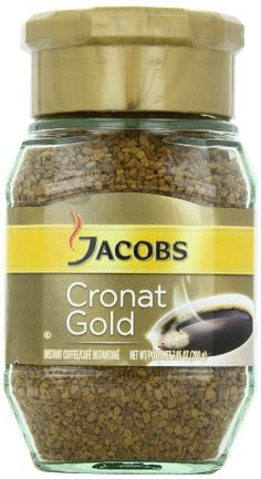 Jacob's Coffee Jacobs Cronat Gold Instant, (Pack of The very best instant coffee from Jacob's Comes in a glass jar Imported from Germany Coffee Cafe, Coffee Drinks, Coffee Mugs, Best Instant Coffee, Coffee Substitute, Dark Roast, Glass Jars, Gourmet Recipes, Food