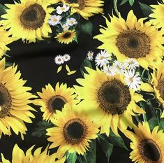 Fabric Art, Silk Fabric, Fabric Design, Pattern Weights, Organic Art, Sunflower Pattern, Van Gogh, The Incredibles, Texture