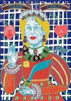 Image of Joanna Lumley Print