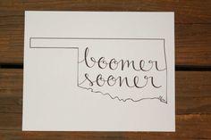 Oklahoma: Boomer Sooner Print