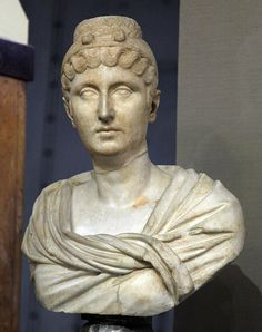 (c. 150 CE) Posthumous portrait of Faustina Major (100-140 CE), wife of Emperor…