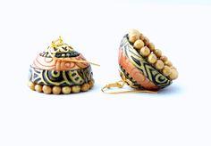 Polymer clay jhumka  www.udesignvmake.com