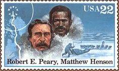 BLACK HISTORY MONTH: Polar Explorers Stamp, Matthew Henson and Robert Peary