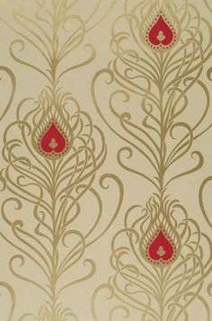 Live life by your own design! Fabulous Retro Wallpaper, stunning Designer Wallcoverings, fantastic Vintage Wallpaper - the ultimate in style in our. Retro Wallpaper, Wallpaper Samples, Home Wallpaper, Pattern Wallpaper, Color Patterns, Print Patterns, Art Nouveau, Peacock Feathers, Arts And Crafts Movement