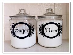 Vinyl Jar Labels by MalloryNikolaus on Etsy, $4.00