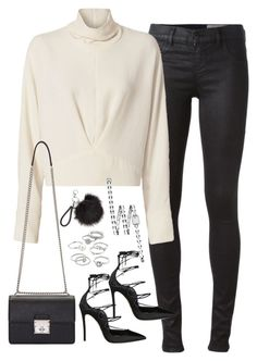 """""""Sem título #4838"""" by fashionnfacts ❤ liked on Polyvore featuring Diesel, IRO, Dsquared2, Dolce&Gabbana, Candie's and Chanel"""