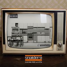 It was 1961 when Gloria was born, the first #kitchen in Italy with appliances integrated: a real revolution, which lands on TV with a 15 second television spot! #Snaidero70