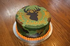 Awesome Image of Hunting Birthday Cakes . Hunting Birthday Cakes 11 Hunting Birthday Cakes For Men Photo Hunting Camo Birthday Cake Birthday Cakes For Men, Hunting Birthday Cakes, Cakes For Boys, Cake Birthday, Rainbow Birthday, Birthday Gifts, Happy Birthday, Camo Cakes, Deer Cakes