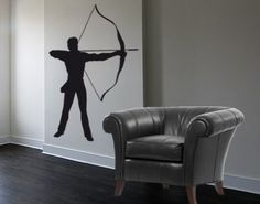 Best Quality Vinyl Wall Sticker Decals - Archery ( Size: 24in x 35in - Color: black ) - No: 1153 by Wall Spirit. $37.95. Magical wall designs, wall decals, wall words, wall clocks and wall hangers from Wall Spirit. Fast delivery with FedEx and Free Shipping for orders of $65 and over. Application instructions included. Choose from over 750 exclusive designs in over 30 different colors from small to giant size wall decals. Service Hotline Mon-Fri from 9-5 PST 877 493-1690...