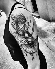 dancer tattoo by inez janiak