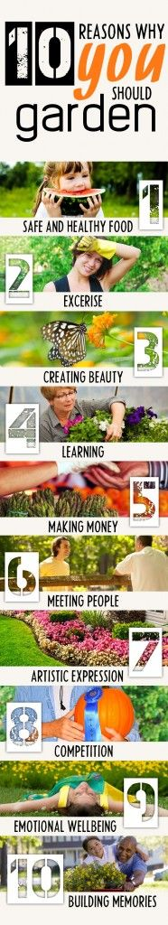 10 Awesome Reasons Why Gardening is Good for You: http://homeandgardenamerica.com/10-awesome-reasons-why-gardening-is-good-for-you