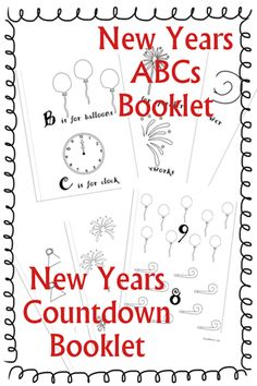 New Years Countdown and ABC Booklets