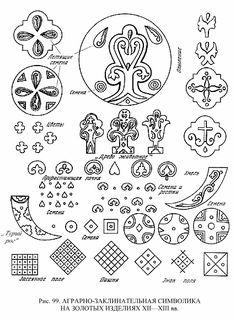 Аграрно-заклинательная символика на золотых изделиях.