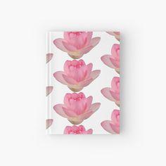 'Beautiful pink lotus flower' Hardcover Journal by ErinFCampbell Pink Lotus, Lotus Flower, Journal Design, Paper, Flowers, Plants, Beautiful, Plant, Royal Icing Flowers
