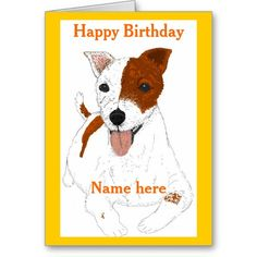Jack Russell Terrier Birthday card Greeting Card