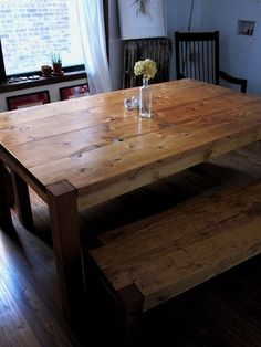Awesome rustic furniture from Rustic Elements Furniture in IL- we've been looking for a cool old farm table and are about to order ours! by lois