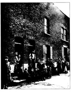 Poor housing in Hope Place Stepney, East London 1800s