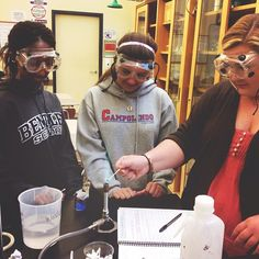 Students at the Upper School experimenting with the flame test lab in general #chemistry. #picfx