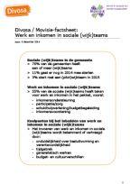 Divosa/Movisie - Factsheet Werk en inkomen in sociale (wijk)teams   Divosa