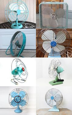 Vintage Electric Fan #Etsy Treasury Turquoise and aqua  --Pinned with TreasuryPin.com