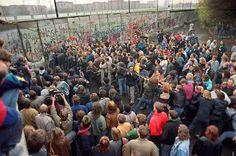 Tearing the Berlin Wall down, 1989. pic.twitter.com/UZUFQjzLo4